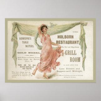 Holborn Restaurant Poster