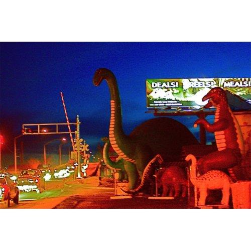 Holbrook Dinosaurs-Rte 66 print