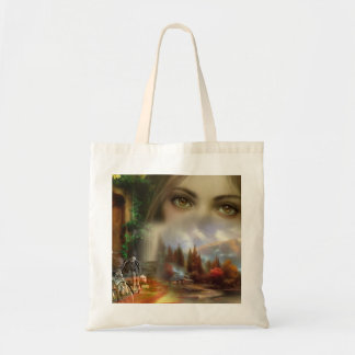Hold-all with superb image budget tote bag