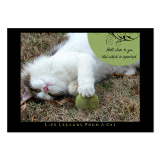 Hold Close Life Lessons from a Cat ACEO Art Cards Business Card Templates