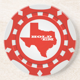 Hold 'Em Poker Chip Coaster (red)