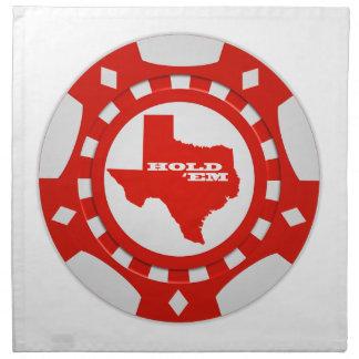 Hold 'Em Poker Chip Napkins (red)