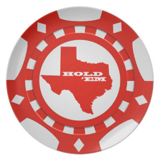 Hold 'Em Poker Chip Plate (red)