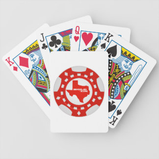 Hold ' Em Poker Chip Playing Cards (red) Bicycle Playing Cards