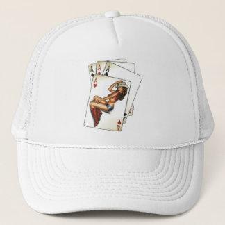 Hold 'em trucker hat