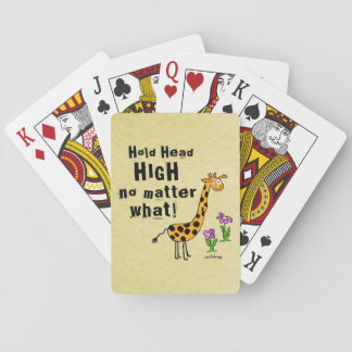 Hold Head High Playing Cards