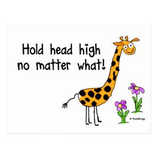 Hold Head High Postcard