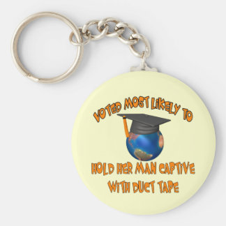 Hold Her Man Captive Keychain