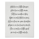 Hold her nursery print Girl nursery art Quote art
