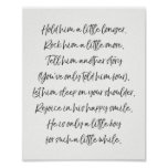 Hold him nursery print Boy nursery art Quote art