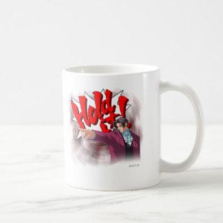 Hold It! Miles Edgeworth Coffee Mug