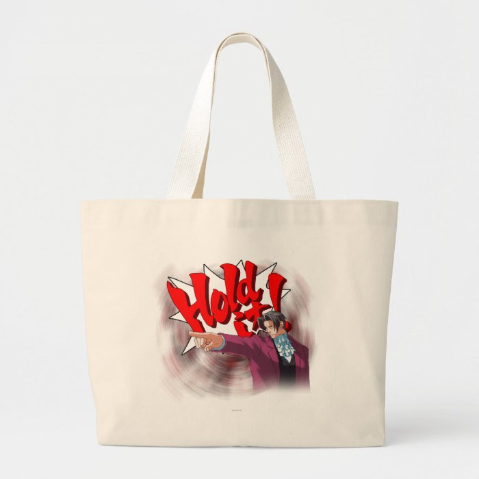 Hold It! Miles Edgeworth Large Tote Bag