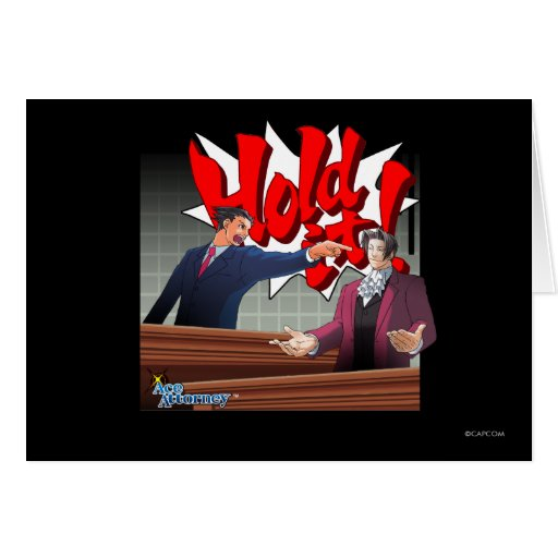 Hold It! Phoenix Wright & Miles Edgeworth Greeting Card