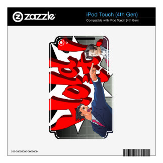 Hold It! Phoenix Wright & Miles Edgeworth iPod Touch 4G Decal