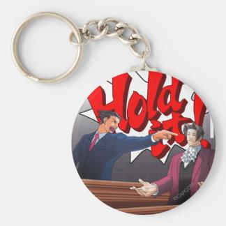 Hold It! Phoenix Wright & Miles Edgeworth Keychain