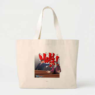 Hold It! Phoenix Wright & Miles Edgeworth Large Tote Bag