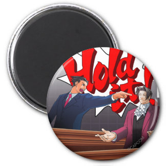 Hold It! Phoenix Wright & Miles Edgeworth Magnet