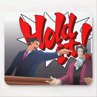 Hold It! Phoenix Wright & Miles Edgeworth Mouse Pad