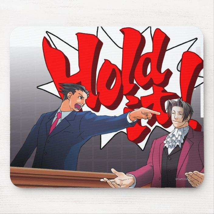 Hold It Phoenix Wright Miles Edgeworth Mouse Pad Zazzle Com