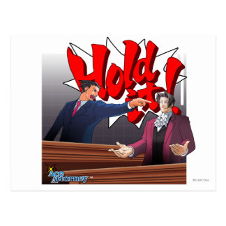 Hold It! Phoenix Wright & Miles Edgeworth Postcard