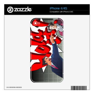 Hold It! Phoenix Wright & Miles Edgeworth Skins For The iPhone 4S