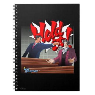 Hold It! Phoenix Wright & Miles Edgeworth Spiral Notebook