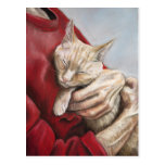Hold Me Tight Cat Art Postcard