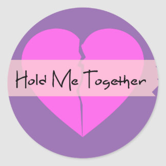 Hold Me Together Classic Round Sticker