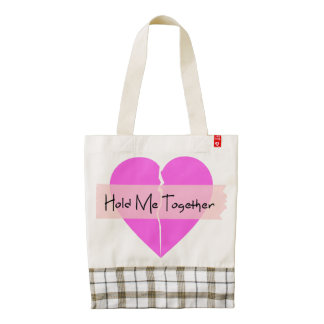 Hold Me Together Zazzle HEART Tote Bag