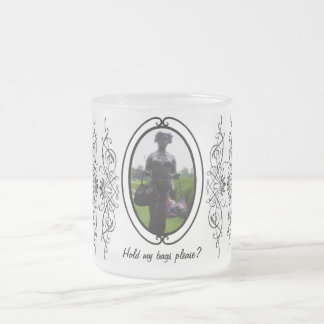 Hold my bags please ~ Frosted Glass Mug