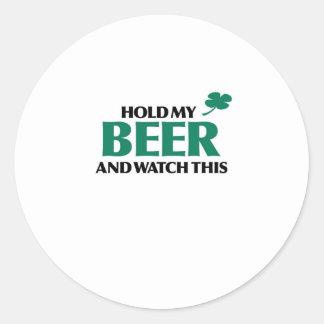 Hold My Beer (Irish 3.0) Classic Round Sticker