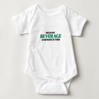 Hold My Beverage (Green Remix) Baby Bodysuit