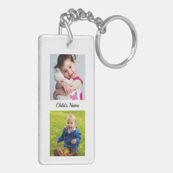 Hold My Hand Daddy Poem from Toddler PHOTO Gift Keychain
