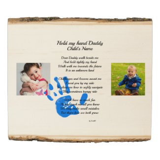 Hold My Hand Daddy Poem from Toddler PHOTO Gift Wood Panel