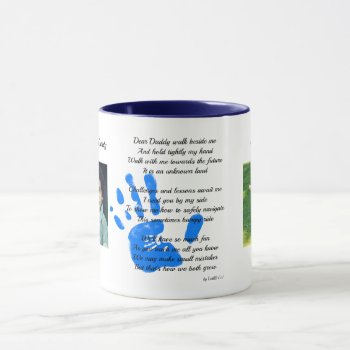 Hold my hand Daddy POEM from Toddler to Dad PHOTO Mug