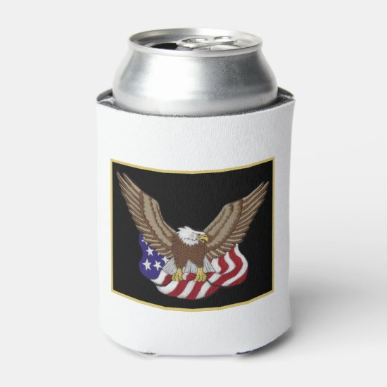 Hold On July 4th Beverage Can Cooler