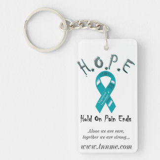 Hold On Pain Ends... Single-Sided Rectangular Acrylic Keychain