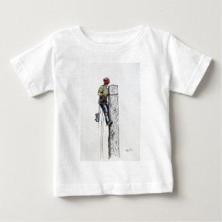 Hold on tight tree surgeon infant t-shirt