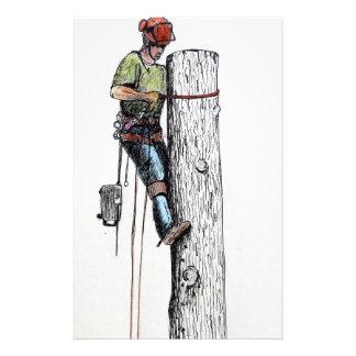Hold on tight tree surgeon stationery