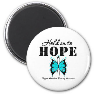 Hold On To Hope Addiction Recovery Refrigerator Magnets