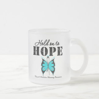Hold On To Hope Addiction Recovery 10 Oz Frosted Glass Coffee Mug