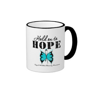 Hold On To Hope Addiction Recovery Ringer Coffee Mug