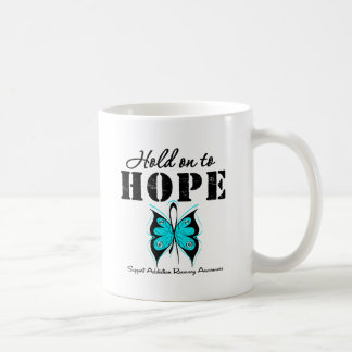 Hold On To Hope Addiction Recovery Classic White Coffee Mug