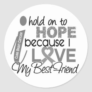 Hold On To Hope Best Friend Brain Cancer Classic Round Sticker