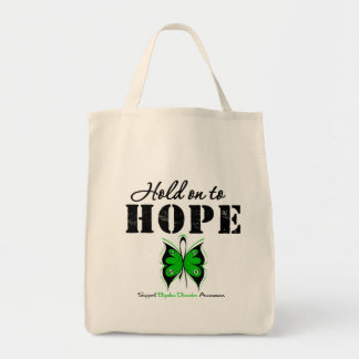 Hold On To Hope Bipolar Disorder Grocery Tote Bag