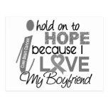 Hold On To Hope Boyfriend Brain Cancer Postcards
