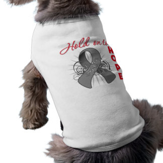 Hold On To Hope - Brain Cancer Doggie T Shirt