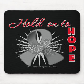 Hold On To Hope - Brain Cancer Mouse Pads
