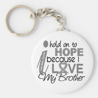 Hold On To Hope Brother Brain Cancer Basic Round Button Keychain
