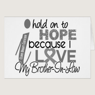 Hold On To Hope Brother-In-Law Brain Cancer Card